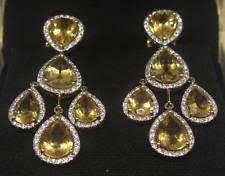 Citrine Chandelier Earrings Citrine Chandelier Earrings Ebay