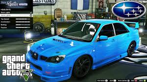 2005 subaru wrx custom subaru impreza wrx sti gta v car mod tuning soley911 youtube