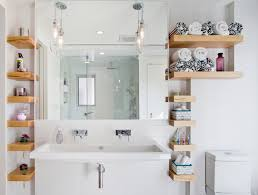 bathroom shelf decorating ideas 20 glorious bathrooms with wooden shelves home design lover