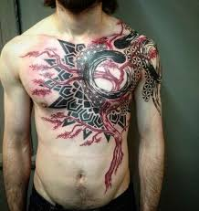chest and stomach tattoos abstract tree best ideas