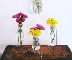 How To Draw A Vase Of Flowers How To Make Light Bulb Vase 6 Steps With Pictures