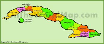 Map Cuba Administrative Map Of Cuba