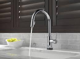home depot kitchen faucets delta delta 9159t dst trinsic single handle pull kitchen faucet