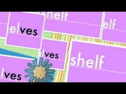 ves plurals shelves elves hooves youtube