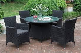 Round Wooden Patio Table by 208 Liz P12 5pc Outdoor Patio Table Set P50263 1 P50131 4