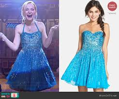 blue new years dresses liv s blue embellished new years dress on liv and maddie detail