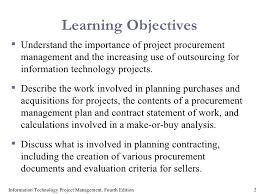 project procurement managemnet