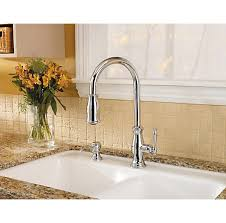 price pfister hanover kitchen faucet polished chrome hanover 1 handle pull kitchen faucet gt529
