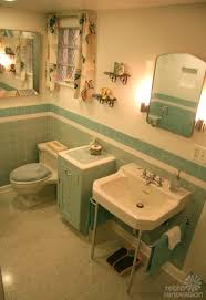 nanette and jims vintage blue bathroom built new from scratch old