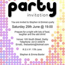 party invitation birthday party invitation template archives word templates