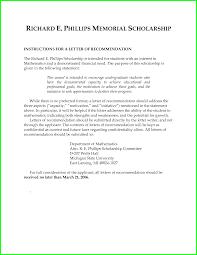 letter of recommendation scholarship sample free mediafoxstudio com