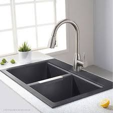 Top Mounted Kitchen Sinks by Granite Drop In Top Mount Kitchen Sinks Ebay
