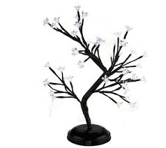 indoor outdoor battery operated lighted bonsai blossom tree page