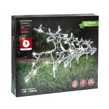 lytworx white solar reindeer stakes 4 pack bunnings warehouse