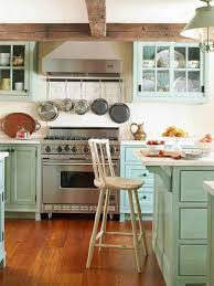 admirable kitchen color design with green accentuate combined