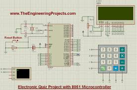 electronic quiz project with 8051 microcontroller the