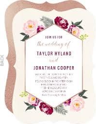floral wedding invitations boho gold floral wedding invitation wedding invitations