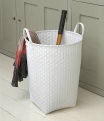 Container Store Laundry Hamper by Stylish White Laundry Basket Made From Woven Plastic Strapping