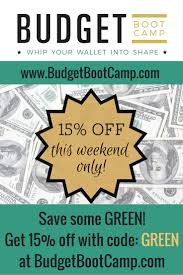 budget boot camp 15 off this weekend only fun cheap or free