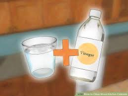 cleaning kitchen cabinets with vinegar 3 ways to clean wood kitchen cabinets wikihow