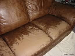 Leather Sofa Discoloration Worn Faded Leather Before Northeast Boston Woburn Ma