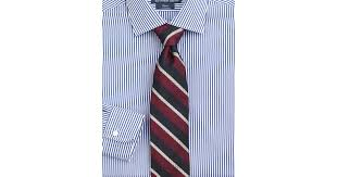 polo ralph lauren customfit striped regent dress shirt in blue for