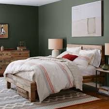 King Wood Bed Frame Emmerson Reclaimed Wood Bed West Elm