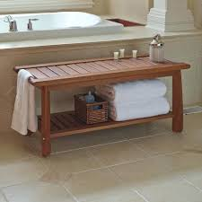 Teak Benches For Bathrooms Wood Bath Bench U2013 Ammatouch63 Com
