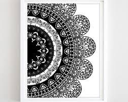 mandala wall art boho poster printable pattern boho art print