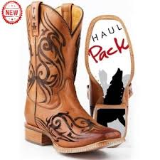 tin haul tattoo and wolf pack cowboy boot