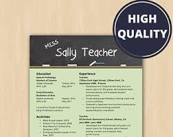 Faculty Resume Sample by Teaching Resume Etsy