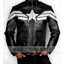 leather jackets soldier captain america black leather jacket