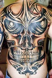 tribal skull tattoos high quality photos and flash designs of