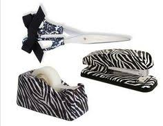 Zebra Desk Accessories Zebra Print Office Supplies Your Office Needs These Classroom