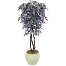 5 potted purple artificial wisteria tree dongyi