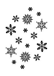 snowflakes black white line art christmas xmas holiday coloring