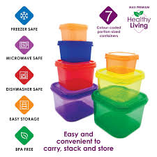 amazon com healthy living 7 piece portion control containers kit