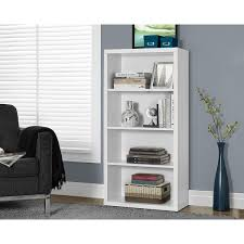 white hollow core 48 inch adjustable shelves bookcase free