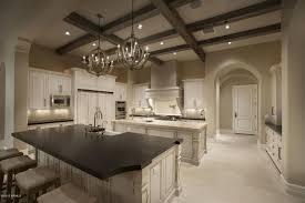 Kitchen Island Chandelier Traditional Kitchen With Kitchen Island Ceramic Tile In