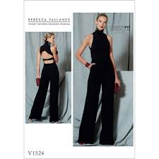 jumpsuit stitching pattern misses open back belted jumpsuit vogue sewing pattern 1524 sew