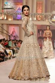 bridal gown designers beige designer bridal gown with royal and trendy looks looksgud