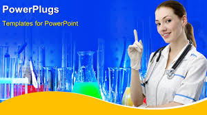 powerpoint template research laboratory with medical science