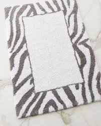 Zebra Bath Rug Avanti Linens Pundamilia Grey And White Bath Rug
