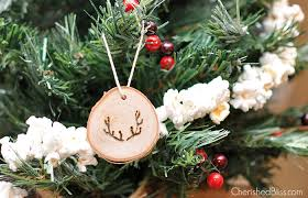 antler wood slice ornaments cherished bliss