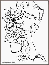 gambar bintang kucing hitam putih untuk diwarnai gambar mewarnai