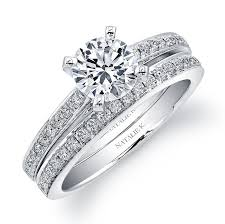 diamond wedding sets natalie k 14k white gold pave diamond brid