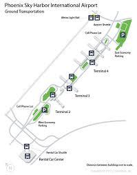 light rail to sky harbor phx phoenix sky harbor international airport terminal map