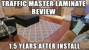 Trafficmaster Laminate Flooring Installation Home Depot Trafficmaster Brazilian Cherry Laminate Review 1 5