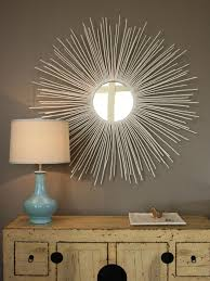 create a sunburst mirror hgtv