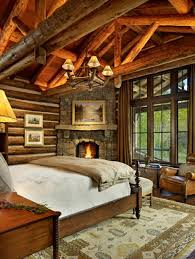 deco bois brut l u0027esprit montagne reflété dans une chambre rustique design feria